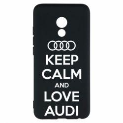 Чехол для Meizu Pro 6 Keep Calm and Love Audi - FatLine