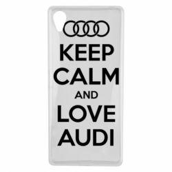 Чехол для Sony Xperia X Keep Calm and Love Audi - FatLine