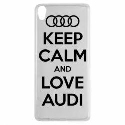 Чехол для Sony Xperia XA Keep Calm and Love Audi - FatLine