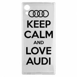 Чехол для Sony Xperia XA1 Keep Calm and Love Audi - FatLine