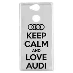 Чехол для Sony Xperia XA2 Keep Calm and Love Audi - FatLine