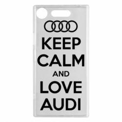 Чехол для Sony Xperia XZ1 Keep Calm and Love Audi - FatLine