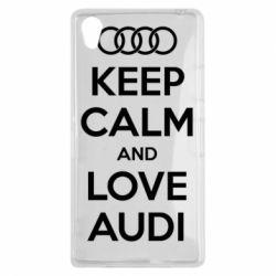 Чехол для Sony Xperia Z1 Keep Calm and Love Audi - FatLine