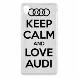 Чехол для Sony Xperia Z2 Keep Calm and Love Audi - FatLine