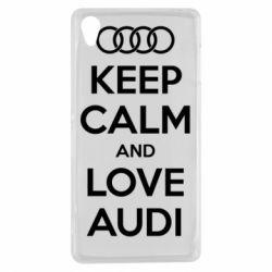 Чехол для Sony Xperia Z3 Keep Calm and Love Audi - FatLine