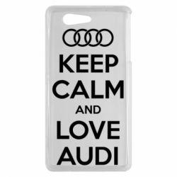 Чехол для Sony Xperia Z3 mini Keep Calm and Love Audi - FatLine