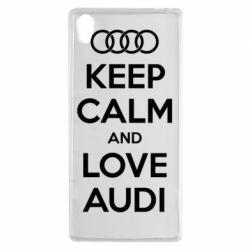 Чехол для Sony Xperia Z5 Keep Calm and Love Audi - FatLine