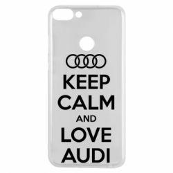 Чехол для Huawei P Smart Keep Calm and Love Audi - FatLine