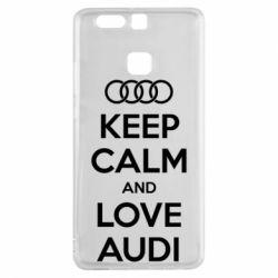 Чехол для Huawei P9 Keep Calm and Love Audi - FatLine