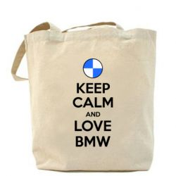 Сумка Keep Calm and Love BMW - FatLine