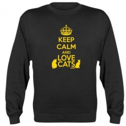 Реглан (свитшот) KEEP CALM and LOVE CATS - FatLine
