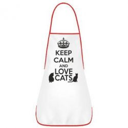 Фартук KEEP CALM and LOVE CATS - FatLine