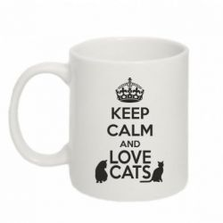 Кружка 320ml KEEP CALM and LOVE CATS