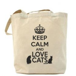 Сумка KEEP CALM and LOVE CATS - FatLine