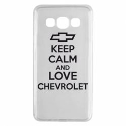 Чохол для Samsung A3 2015 KEEP CALM AND LOVE CHEVROLET