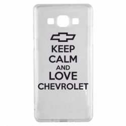 Чохол для Samsung A5 2015 KEEP CALM AND LOVE CHEVROLET