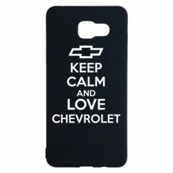 Чохол для Samsung A5 2016 KEEP CALM AND LOVE CHEVROLET