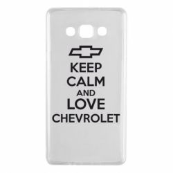 Чохол для Samsung A7 2015 KEEP CALM AND LOVE CHEVROLET