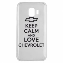 Чохол для Samsung J2 2018 KEEP CALM AND LOVE CHEVROLET