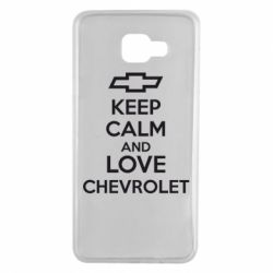 Чохол для Samsung A7 2016 KEEP CALM AND LOVE CHEVROLET