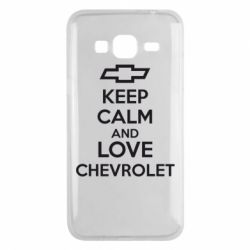 Чохол для Samsung J3 2016 KEEP CALM AND LOVE CHEVROLET