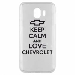 Чохол для Samsung J4 KEEP CALM AND LOVE CHEVROLET