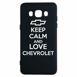 Чохол для Samsung J5 2016 KEEP CALM AND LOVE CHEVROLET