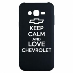 Чохол для Samsung J7 2015 KEEP CALM AND LOVE CHEVROLET