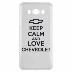 Чохол для Samsung J7 2016 KEEP CALM AND LOVE CHEVROLET