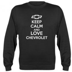 Реглан (свитшот) KEEP CALM AND LOVE CHEVROLET