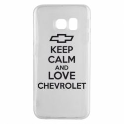 Чохол для Samsung S6 EDGE KEEP CALM AND LOVE CHEVROLET
