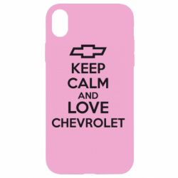 Чохол для iPhone XR KEEP CALM AND LOVE CHEVROLET