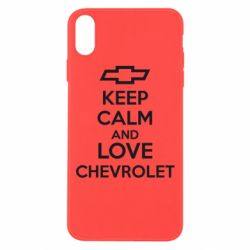 Чохол для iPhone Xs Max KEEP CALM AND LOVE CHEVROLET