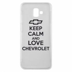 Чохол для Samsung J6 Plus 2018 KEEP CALM AND LOVE CHEVROLET