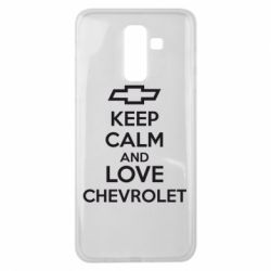 Чохол для Samsung J8 2018 KEEP CALM AND LOVE CHEVROLET