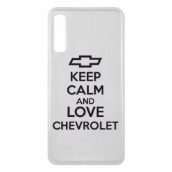 Чохол для Samsung A7 2018 KEEP CALM AND LOVE CHEVROLET