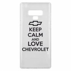 Чохол для Samsung Note 9 KEEP CALM AND LOVE CHEVROLET