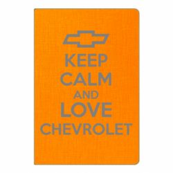 Блокнот А5 KEEP CALM AND LOVE CHEVROLET