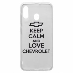 Чохол для Samsung A20 KEEP CALM AND LOVE CHEVROLET