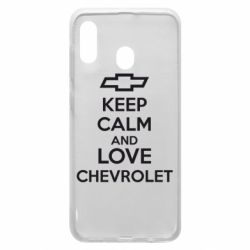 Чохол для Samsung A30 KEEP CALM AND LOVE CHEVROLET
