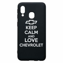 Чохол для Samsung A40 KEEP CALM AND LOVE CHEVROLET