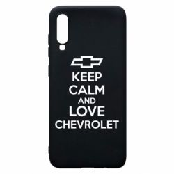 Чохол для Samsung A70 KEEP CALM AND LOVE CHEVROLET