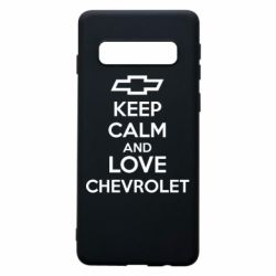 Чохол для Samsung S10 KEEP CALM AND LOVE CHEVROLET