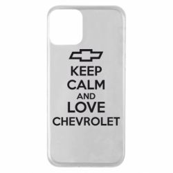 Чохол для iPhone 11 KEEP CALM AND LOVE CHEVROLET