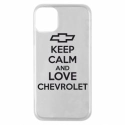 Чохол для iPhone 11 Pro KEEP CALM AND LOVE CHEVROLET
