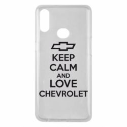 Чохол для Samsung A10s KEEP CALM AND LOVE CHEVROLET