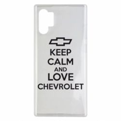Чохол для Samsung Note 10 Plus KEEP CALM AND LOVE CHEVROLET