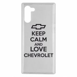 Чохол для Samsung Note 10 KEEP CALM AND LOVE CHEVROLET