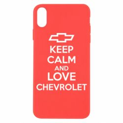 Чохол для iPhone X/Xs KEEP CALM AND LOVE CHEVROLET