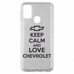 Чохол для Samsung M30s KEEP CALM AND LOVE CHEVROLET